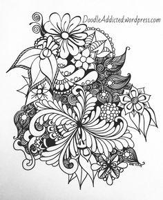 Spring Glory doodle art by Heidi Denney