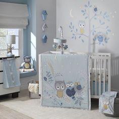 Lambs & Ivy Night Owl Happi by Dena 4 Piece Bedding Set