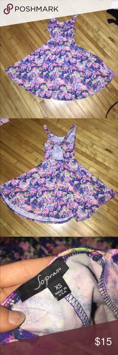 Nordstrom Floral Skater Dress with Back Cutouts Adorable floral skater dress, cutouts in back, perfect condition as it was only worn twice Nordstrom Dresses Mini