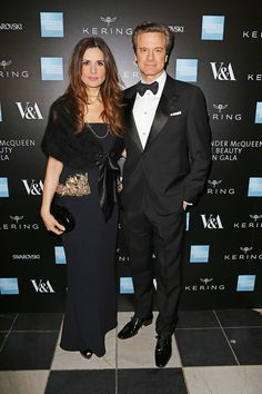 Lydia & Colin Firth at the Opening Night Gala of Alexander McQueen, Savage Beauty