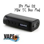 The IPV Mini D2 Mod is the newest addition to Pioneer4You's impressive lineup of IPV mods. It is the newest version and now comes with temperature control, more wattage and lower atomizer resistance! The IPV Mini D2 is a single 18650 battery mod that features a quick access slide to remove battery cover. It has an output of 75w and 50j. It can fire standard kanthal atomizers down to 0.2Ω and can fire temp control atomizers all the way down to 0.05Ω with a temperature range of 200-580°F.