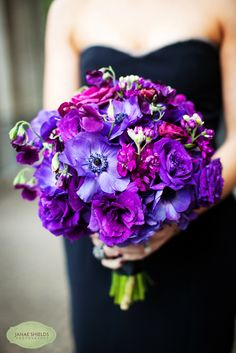 Love this purple bouquet