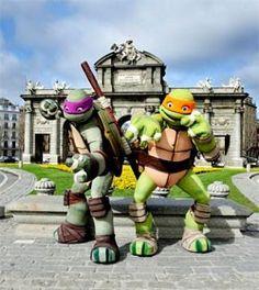 Las tortugas Ninja, a punto de cumplir 30 años, visitan Madrid
