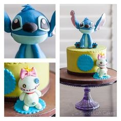 Your Ahona will love this Stitch & Scrump Birthday Cake  | Disney Cakes | Disney Cake Ideas | Disney Cakes for Teens |