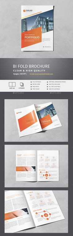 Corporate Bi-Fold Brochure v.1 Features: File Size: A5 with bleed 0.3 mm Fully Editable300 dpi, CMYK Easy to Customize Note : Phot