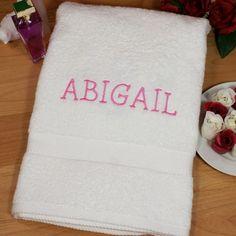 Embroidered Name Bath Towel - $38.00