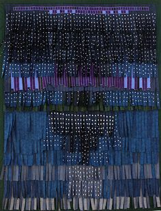 """Abdoulaye Konaté, """"Composition 6"""", textile, 171x221cm, 2012"""
