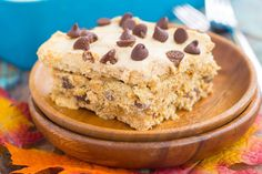This {No-Bake} Pumpkin Chocolate Chip Icebox Cake is an easy fall dessert that's layered with graham crackers, pumpkin spiced whipped cream, and chocolate chips. With just a few ingredients and minimal prep time, this dish is the perfect combination of pumpkin and chocolate!