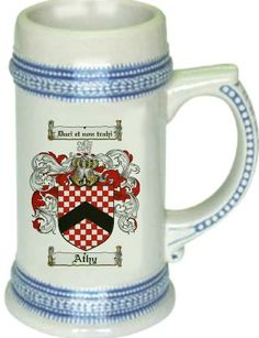 Athy Coat of Arms / Family Crest stein mug