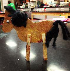Toddler Horse Clothespin Craft