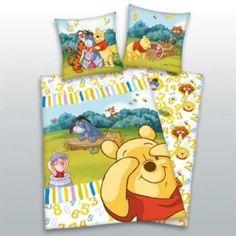 Coordinato letto copripiumino e federa con Winnie The Pooh Disney