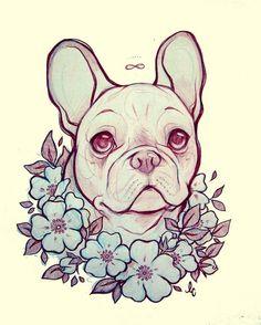 bulldog frances*-* lindsay campbell art