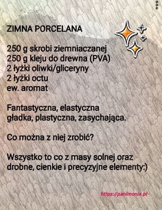 przepis na masę porcelanową Easy Knitting Projects, Diy Projects To Try, Diy For Kids, Crafts For Kids, Teachers Day Gifts, Preschool Art, Cold Porcelain, Kids And Parenting, Kids Playing