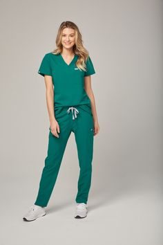 231cd6aaa5 Women's Yola Skinny Scrub pant - Hunter Green Polish your professional look  with our most stylin