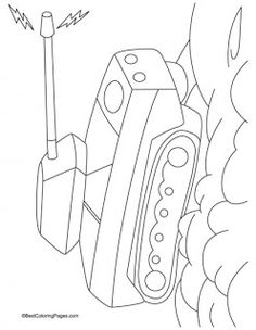 Tank is an army vehicle used to throw bomb, small missiles and firing bullets. It provide security to its driver and crew members as it has. Coloring Pages For Kids, Coloring Sheets, Kids Coloring, Tank Drawing, My Three Sons, Christmas Ornament Crafts, Battle Tank, Drawing For Kids, Kids Education