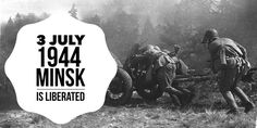 3 July Minsk is liberated from Nazi control by the Red Army during Operation Bagration Operation Bagration, Red Army, Wwi, World War Ii, History, World War Two, Historia, Wwii, History Activities