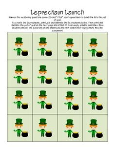 Language Lucky Charms - St. Patrick's Day Vocabulary Packet  ***Free Today Only