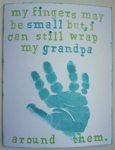 Sweet #DIY card for #grandpa for #grandparentsday