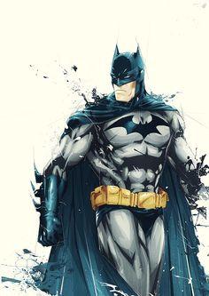 batman. nice illustrative style.