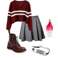 A fashion look from December 2014 featuring RED Valentino skirts and Dr. Martens ankle booties. Browse and shop related looks.