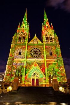 Vivid Festival - St Mary's Cathedral