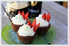 aBitterSweetWife: Chocolate Drunken Strawberry Cupcakes with White Chocolate Buttercream