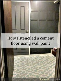 Stenciled Cement Floor - Done for $0 with a homemade stencil!