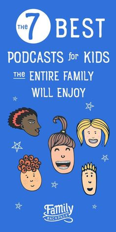 Learn the 7 best podcasts for kids the entire family will enjoy. Dive into the popular podcasts we listen to together with our children. Everything from educational, funny stories, and even science podcasts to keep kids and adults entertained on your next Parenting Advice, Kids And Parenting, Parenting Styles, Funny Stories For Kids, Children Stories, Dads, Raising Kids, Kids Education, Kids