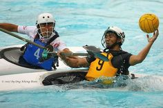 Water Polo Kayaking....my husband would LOVE to be on this kind of team!!