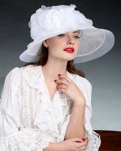 0991HLSP Helena, sisal crown/sinamay brim, white
