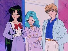 Haruka, Michiru, and Setsuna