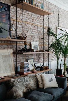 Best Minimalist Living Room Interior Design Ideas You Can Try Apartment Interior, Living Room Interior, Apartment Living, Interior Design Living Room, Apartment Plants, Apartment Design, Apartment Walls, Brick Interior, Apartment Chic