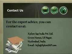 If you are looking for online training in India then XploreSAP is the best alternative for you. For more information visit www.xploresap.com