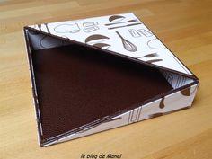 Les cartonnages de Manel / boite à serviettes (grand modèle )
