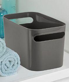 Love this Slate Una Bathroom Storage Bin on #zulily! #zulilyfinds