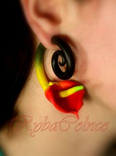 The flower of Love Fake ear gauge  Faux gauge/Gauge by RybaColnce