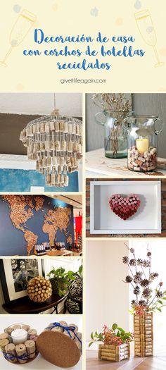 Decoración de hogar con corchos de botellas reciclados Diy, Ideas, Wine Bottle Corks, Crafts With Corks, Wine Goblets, Recycled Bottles, Coasters, Upcycle, Home Decoration