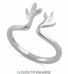 Sterling Silver Antlers Ring