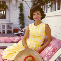 Jackie Kennedy in vintage Lilly Pulitzer