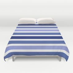 Blue Stripes Duvet Cover