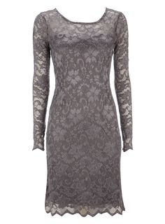 Grey All Over Lace Dress