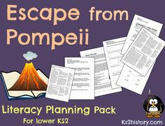 Lesson plans and resources for an English unit based on the book 'Escape from Pompeii'. This planning can link to the KS2 topic The Romans or Volcanoes.