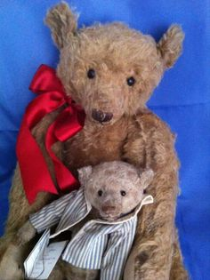 Two Forget Me Not Bears By Liz.