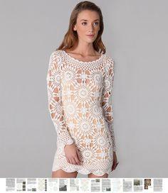 Crochet dress PATTERN trendy party dress von FavoritePATTERNs