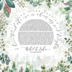 Modern Jewish Ketubah Outdoor Wedding greenery backdrop | Etsy Jewish Art, Wedding Greenery, Wedding Guest Book, Fine Art Paper, Amazing Art, Giclee Print, Backdrops, Art Prints, Modern