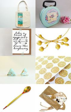 Golden Seafoam by Jenny  Campbell on Etsy--Pinned with TreasuryPin.com