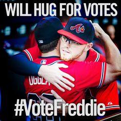 #VoteFreddie by texting N2 to 89269 or visit www.Braves.com/vote