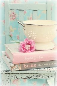 Shabby chic,blue,pink & white