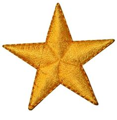 """[Single Count] Custom and Unique (1 1/2"""" Inches) Small Celestial Star Iron On Embroidered Applique Patch {Gold} mySimple Products http://www.amazon.com/dp/B014I20VAE/ref=cm_sw_r_pi_dp_lARJwb04YKWDH"""