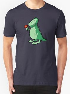 Funny Dino Holding A Red Flower T Shirts And Gifts Design - Cartoon,Animal,Animals,Funny,Humor,lol,Sticker,Tees,Shirts,tshirts,Cute,Silly,Sweet,Happy,Fun,Character,Cool,Awesome,Adorable,Graphic,for,Drawing,Doodle,TV,movies,friend,friends,gift,gifts,ideas,him,her,children,kids,son,daughter,nursery,art,t-shirt,t-shirts,tees,tshirt,shirt,birthday,buy,online,mugs,mug,i phone,ipad,cases,laptop,skins,wall clock,fashion,home decor, ,Dinosaur,romance,romantic,love,boyfriend,for,shop,Valentines